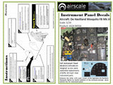 Airscale 1/24 Airfix Mosquito Instrument Panel decal AS24MOSA