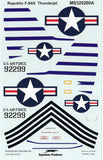 1/32 SuperScale decal for Republic F-84E Thunderjet
