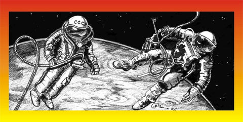 1/24 New Ware World's First Spacewalkers Alexei Leonov & Ed White