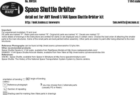 New Ware NW134 1/144 Space Shuttle Orbiter for Revell