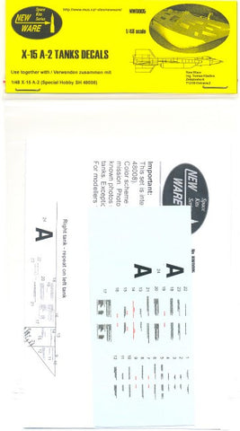 New Ware 1/48 X-15 A-2 Tanks Decals for Special Hobby - NWD005