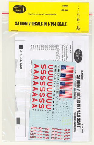 New Ware 1/144 decal set Saturn V decals for Revell or Airfix NWD007