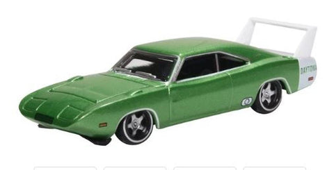 Oxford Diecast Co. 87DD69003 HO Scale 1969 Dodge Charger ( Bright Green & White)