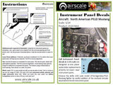 Airscale 1/24 P-51 Mustang Instrument Panel decal AS24NAA