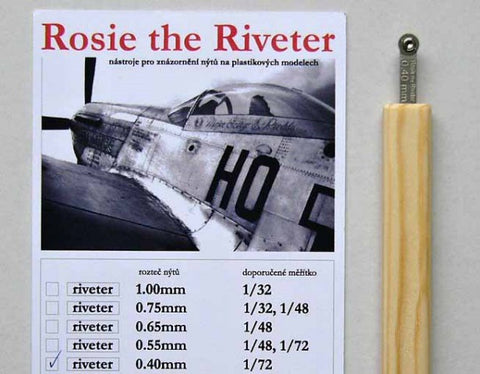 Petr Dousek 1/72 Rosie the Riveter Riveting tool 0.40mm - PDR01