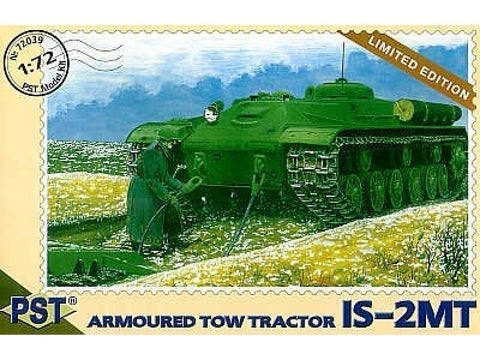 PST Models 1:72 IS-2MT Soviet Armored Tow Tractor - 72039 - Slight shelf wear Old stock