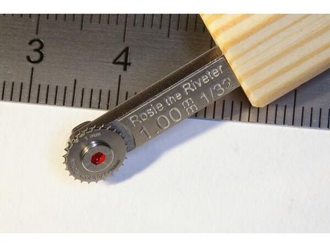 Petr Dousek 1/32 Rosie the Riveter Riveting tool double wheel 1.00mm PDR05D