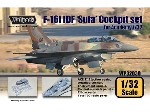 Wolfpack 1/32 scale resin F-16 I Sufa Israeli Air Force cockpit Academy WP32030