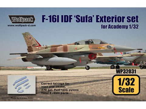 Wolfpack 1/32 scale F-16 I Sufa Israeli Air Force exterior set Academy WP32031