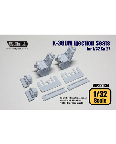 Wolfpack 1/32 scale resin K-36DM Ejection seats for Su-27 - WP32034