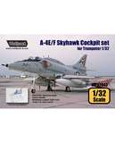 Wolfpack 1/32 scale resin A-4E/F Skyhawk resin Cockpit set for Trumpeter WP32043