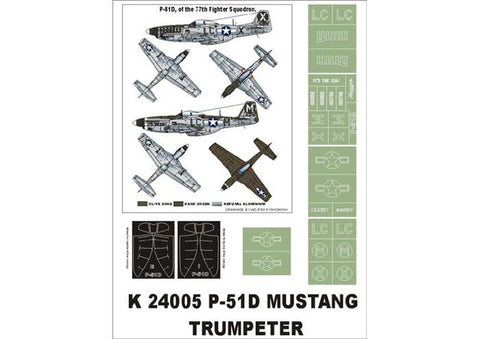 Montex 1/24 masks & markings P-51D Mustang Trumpeter K24005