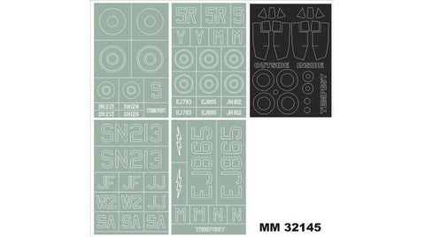 Montex 1/32 masks for Hawker Tempest MkVc for PCM #32016 - MM32145