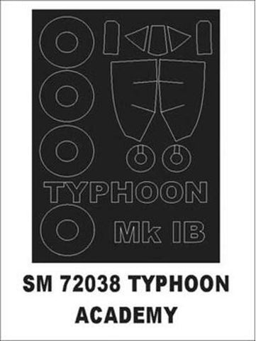 Montex 1/72 canopy masks for Academy Typhoon 1b - SM72038