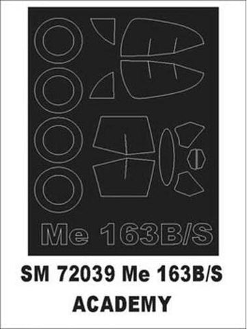 Montex 1/72 canopy masks for Academy Me 163B/S - SM72039