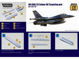 Wolfpack 1/32 AN/AAQ-33 Sniper XR Targeting Pod for F-16 WP32016