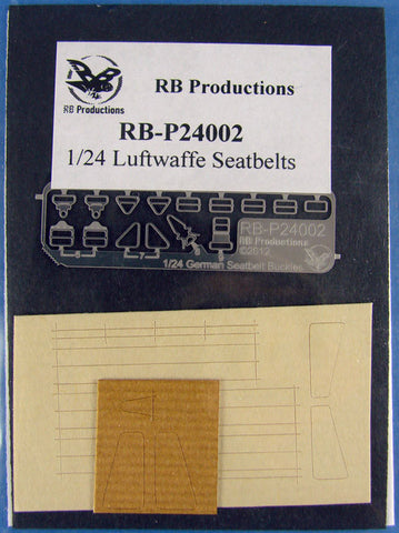 RB Productions 1/24 Luftwaffe Seatbelts - standard (Beige) RBP24002