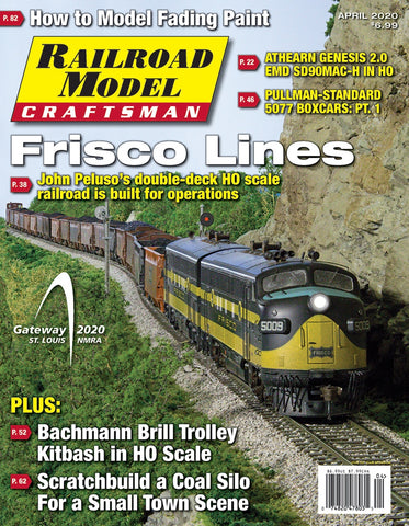 Railroad Model Craftsman Magazine, April 2020, Volume 89 Number 4