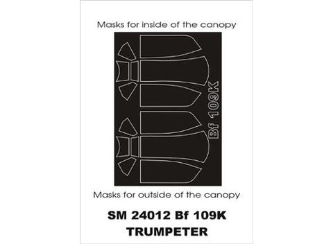 Montex 1/24 canopy masks for Bf 109K-4 from Trumpeter SM24012