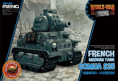 MENG World War Toons WWT-009 Somua S35 French Medium Tank Kit