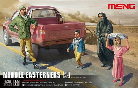 Meng 1/35 Scale Middle Easterners unpainted figures - HS-001