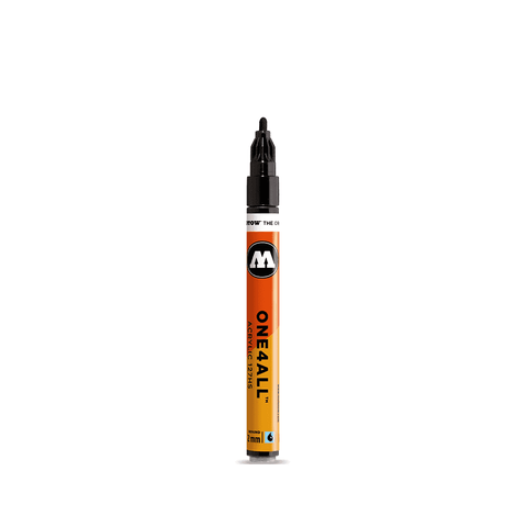 MOLOTOW One4All Acrylic Paint Markers, 4mm - Metallic Black