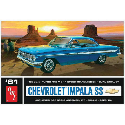AMT 1/25 scale #1013/12 '61 Chevrolet Impala SS Model Kit