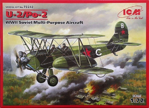 ICM kit 1/72 U-2/Po-2 WWII Multi-Purpose Aircraft - 72242 - Slight Shelf Wear