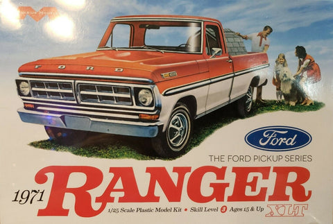 MOEBIUS 1/25 scale 1971 Ford Ranger XLT Pick Up Model Kit #1208