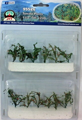 "JTT Scenery Products - O Scale - 95526 Tomato Plants 1 1/2"" Tall (12pack)"