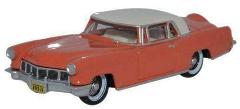 Oxford Diecast Co. HO Scale 1956 Continental Mk. II (Island Coral / Starmist White)  #87CL56004