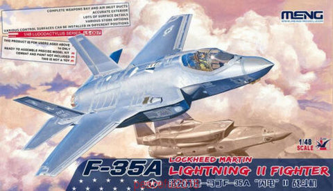 MENG 1/48 Scale F-35A Lightning II Fighter - Plastic kit #LS-007