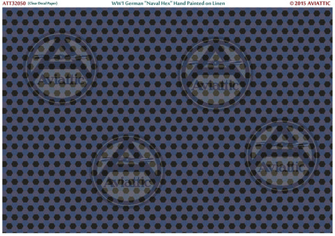 Aviattic 1/32 32050 Clear WW1 German Naval Hex - Linen effect