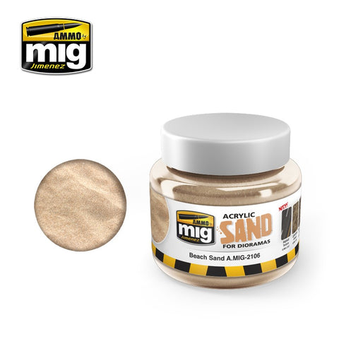 Ammo of Mig Jimenez SAND GROUND - Acrylic Mud 250ml Jar A.Mig 2106