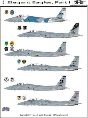 Speed Hunter Graphics 48003 1/48 decal F-15C Elegant Eagles HSG
