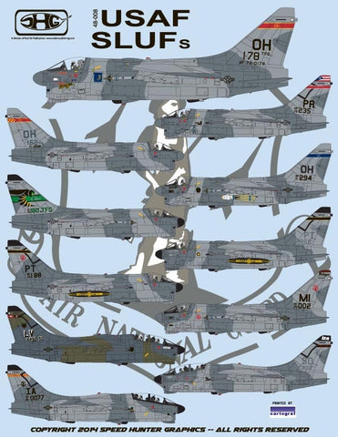 Speed Hunter Graphics 48008 1/48 decal A-7D Corsair II USAF SLUF