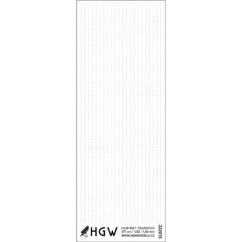 HGW 1/32 Single Lines Positive Rivets 1.60 mm - #322015
