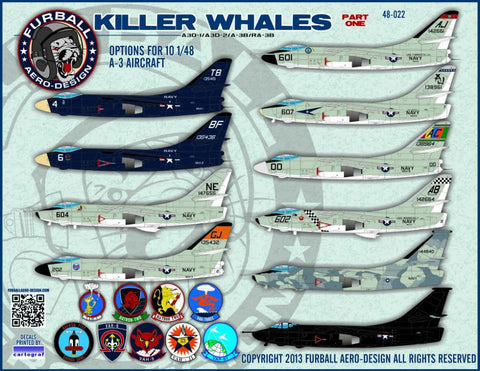 "Furball Aero Design 1/48 A-3 Skywarrior ""Killer Whales"" Part I decal"