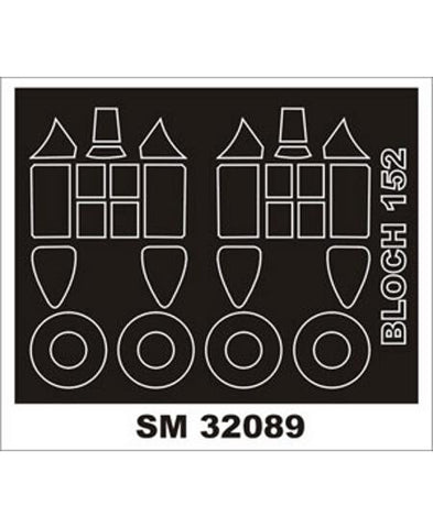 Montex 1/32 canopy masks for Bloch 152 by Azur- SM32089