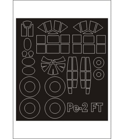 Montex 1/48 canopy masks for the MPM Pe-2FT kit - SM48278