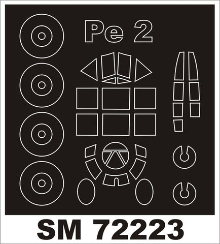 Montex 1/72 canopy masks for Hobby Boss Pe-2 kit - SM72223