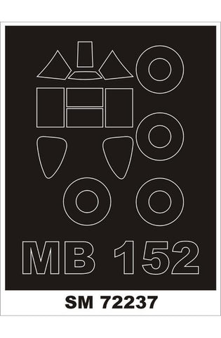 Montex 1/72 canopy masks for Bloch 152 by RS Model - SM72237
