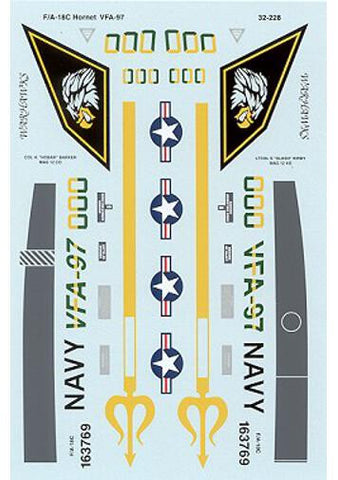SuperScale 1/32 decals F/A-18C Hornet VF97 - Academy - MS32228