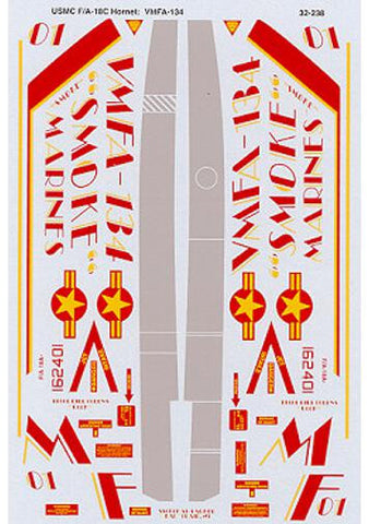 SuperScale 1/32 decals for Academy F/A-18A + Hornet VMFA134 - MS32238