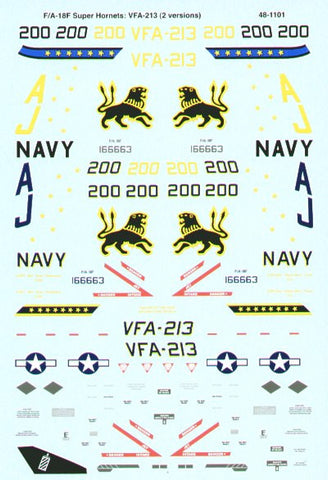 SuperScale 1/48 decals F/A-18F Super Hornets for Hasegawa #48-1101