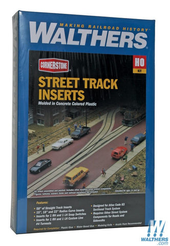 Walthers Cornerstone 933-3140 HO scale Street Track Inserts