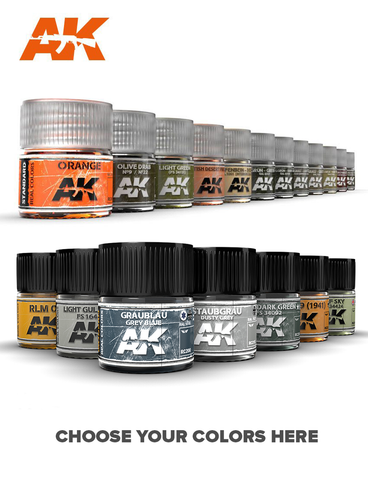 AK Interactive Real Color Standard Shop Paint Line 10ml RC001->RC022/RC503 ->508