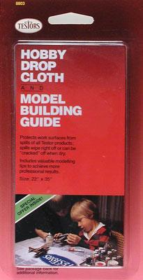 "Testors 22""×35"" Hobby Drop Cloth and Model Building Guide 8803M"