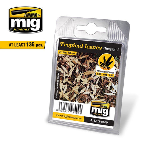 AMMO MiG Jimenez Realistic 1/48 1/35 1/32 scale TROPICAL LEAVES AMIG8409