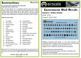 Airscale 1/48 USAAF Cockpit instrument decals AS48USA